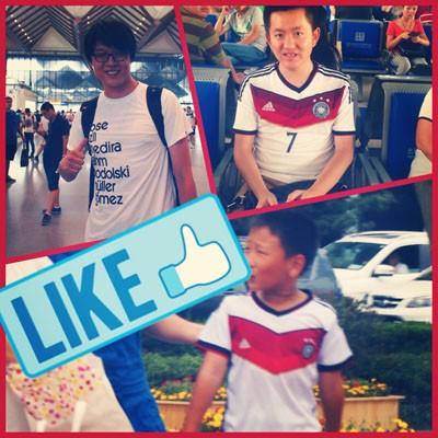 Chinesische Fans der deutschen Nationalelf