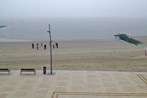Frühsport am Strand
