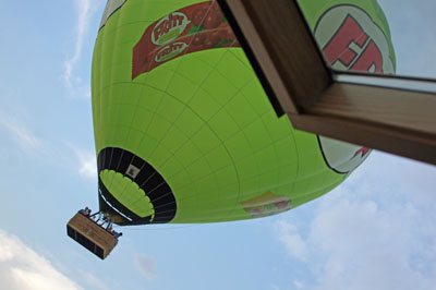 Heißluftballon in Köln Ehrenfeld