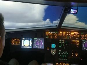 Im Flugsimulator