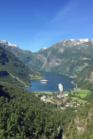 Geirangerfjord vom Dalsnibba