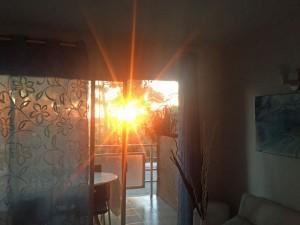 Morgensonne in der Ferienwohnung