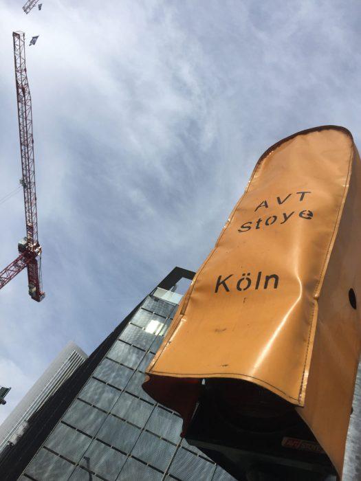 Ampelabdeckung in Frankfurt