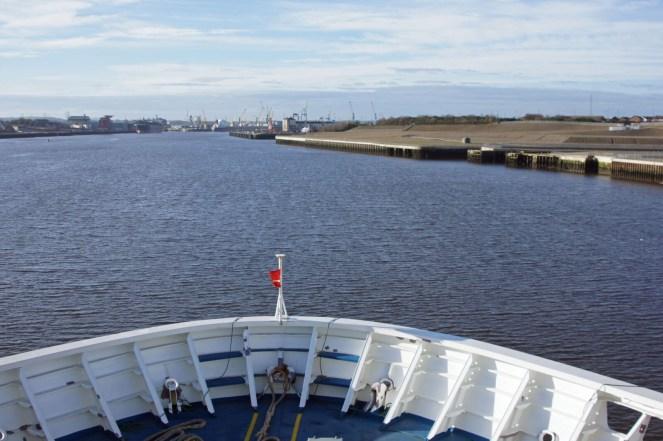 Die Fähre startet in Amsterdam