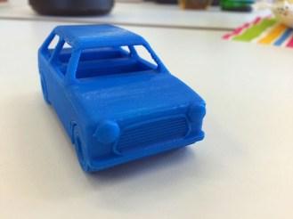 Auto gedruckt