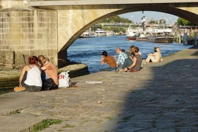 Samstagabend an der Donau