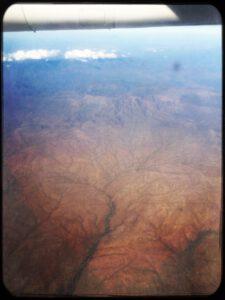 Turkana Region aus dem Flugzeug