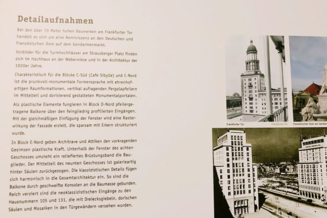 Infos zur Karl-Marx-Allee im Café Sibylle in Berlin