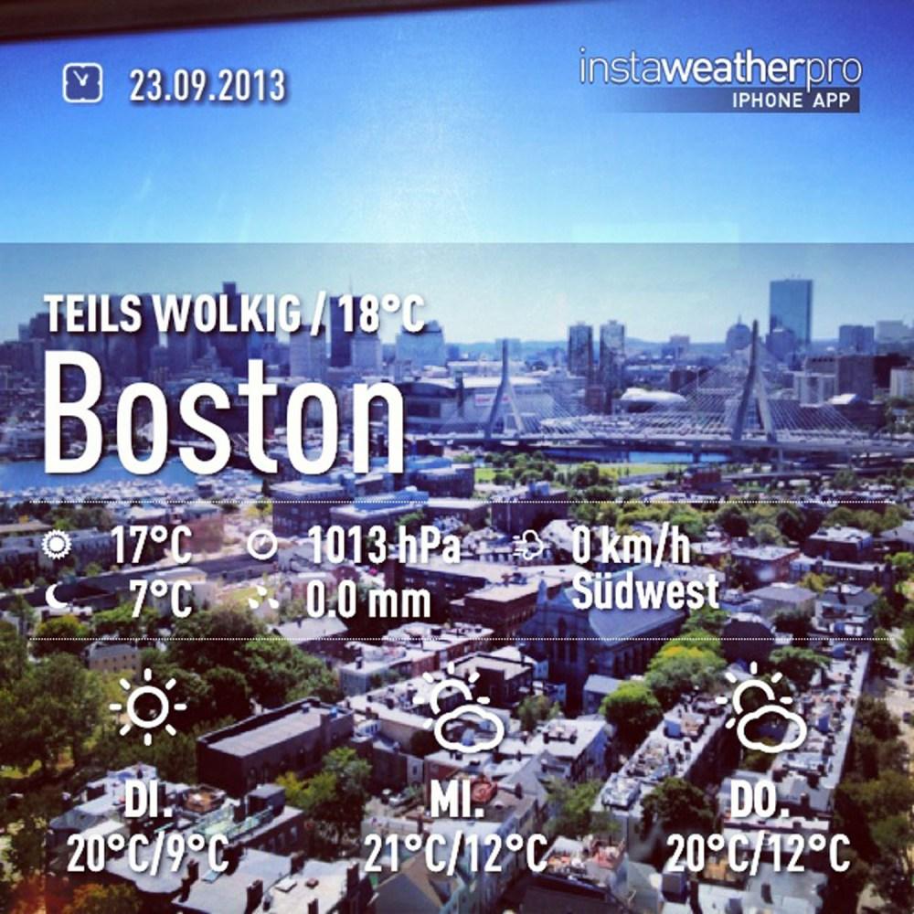 Boston im Blick
