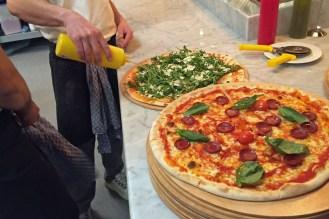Pizzablock in der Küche