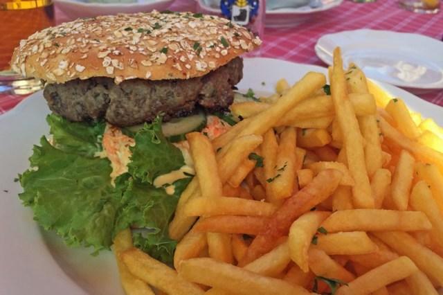 Wildschweinburger auf dem Hardenberg