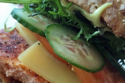 Lachs-Burger in der Mittagspause