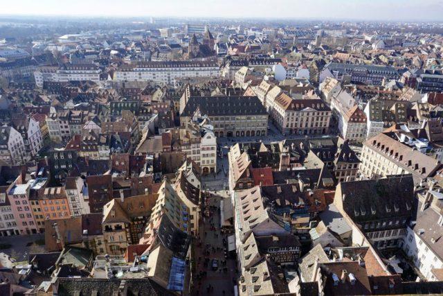 Straßburg von oben