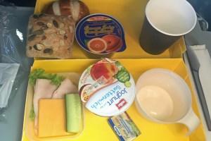 Frühstück im Flieger