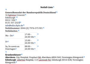 Checkliste: Notfallnummern und –adressen fürs Urlaubsland