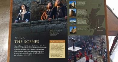 Outlander in Aberdour Castle
