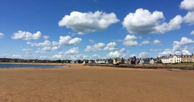 Am Strand von Elie