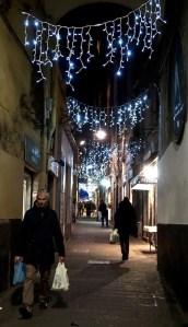 Altstadt weihnachtlich in Genua