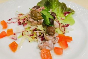 Krabben und Salat