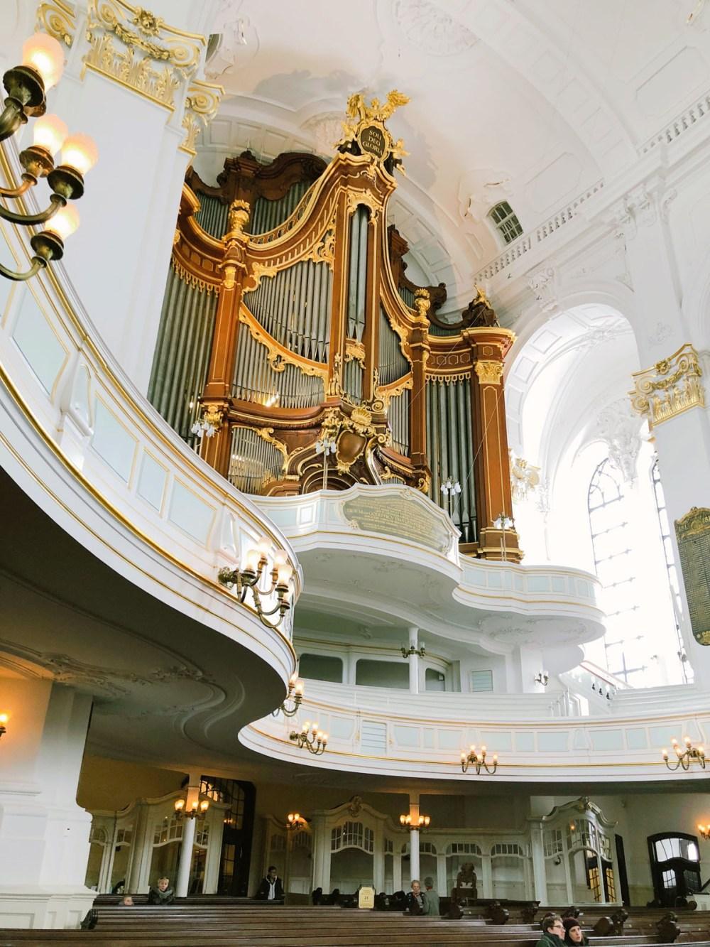 In der Hauptkirche Sankt Michaelis in Hamburg