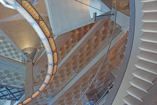 Innenarchitektur im Museum für Islamische Kunst in Doha