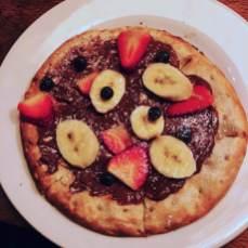 Schokopizza in der L'Osteria