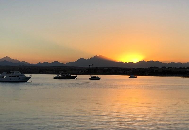 Sonnenuntergang in Sahl Hasheesh