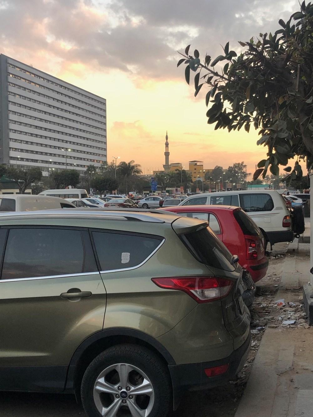 Sonnenuntergang in Nasr City