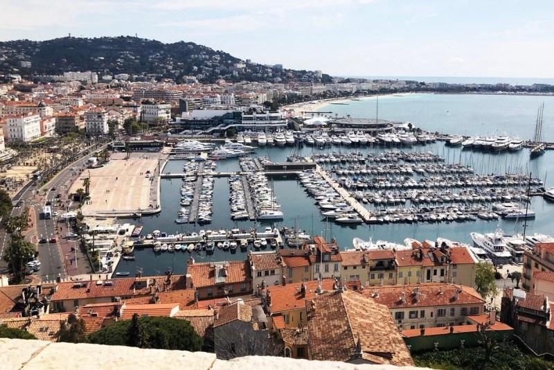 Blick über Cannes