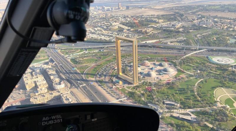 Hubschrauberrundflug in Dubai: Dubai Frame
