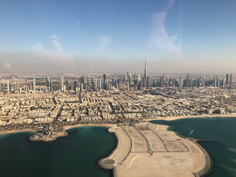 Hubschrauberrundflug in Dubai: Skyline mit Burj Khalifa