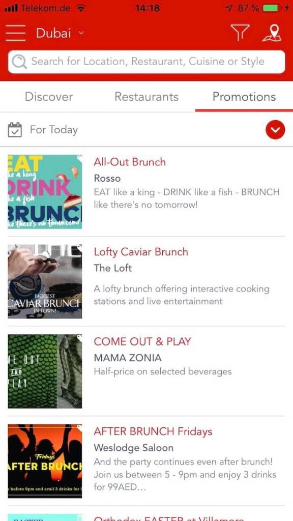Screenshot der App Reserveout