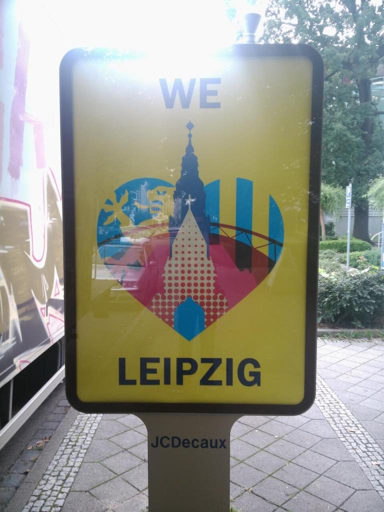 Plakat We love Leipzig