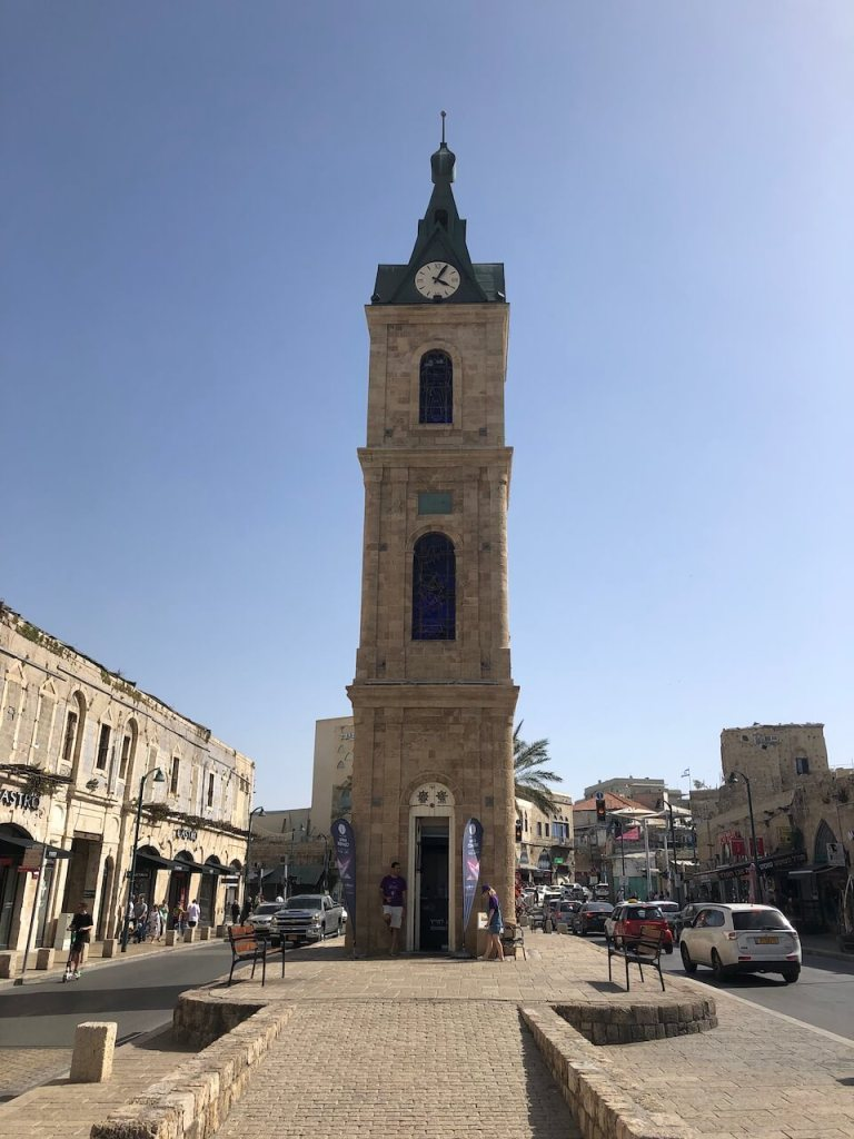 Der Uhrturm der Altstadt in Tel Aviv