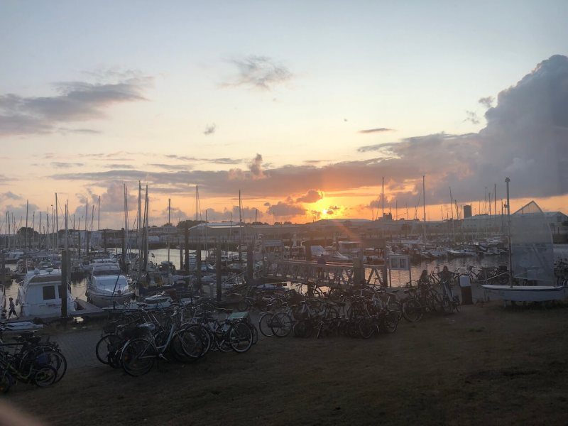 Sonnenuntergang im Hafen von Norderney