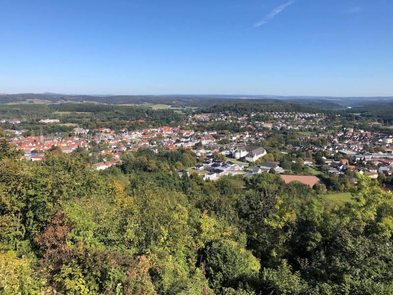 Ausblick von der Sachsenklause auf Bad Driburg