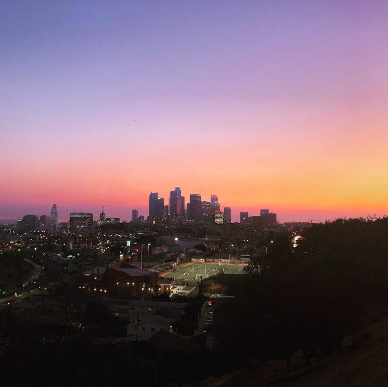 Los Angeles beim Sonnenuntergang