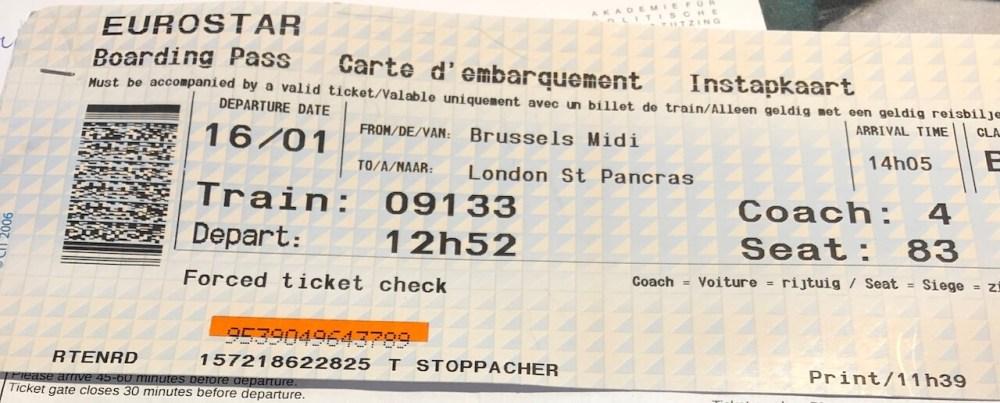 Eurostar Boarding Pass