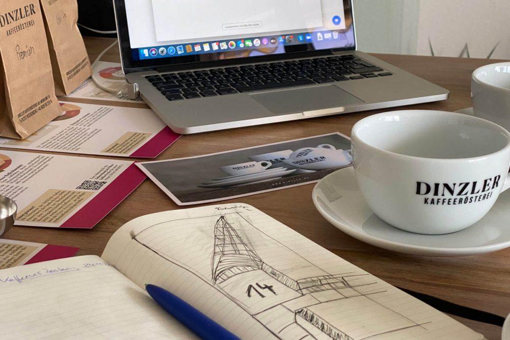 Onlinekaffeeverkostung mit der Rösterei Dinzler