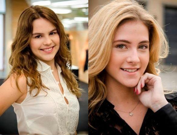 Anita (Bianca Salgueiro) e Sofia (Hanna Romanazzi). Foto: Divulgação