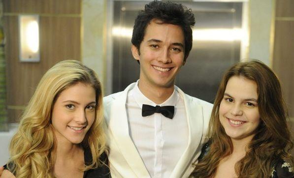 Hanna Romanazzi, Gabriel Falcão e Bianca Salgueiro são os novos protagonistas de Malhação. Foto: Divulgação/TV Globo