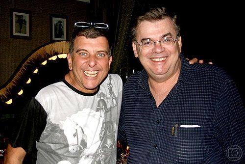O diretor Jorge Fernando e o autor Walcyr Carrasco (Foto: TV Globo)