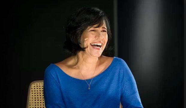 Thelma Guedes em entrevista à Globo News (Foto: João Cotta/TV Globo)