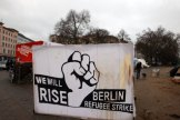 press-conference in Berlin, Oranienplatz Jan 4, 2013