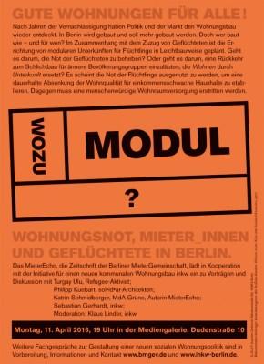 Wohnungsbau und Flüchtlinge