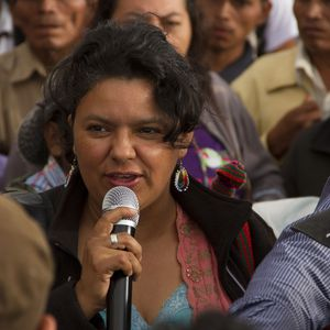 picture of Berta Cáceres, activist in the fight of indigenous people against capitalist expropiation in Honduras