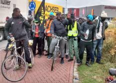 Flüchtlinge Protestmarch 2016 Münich nach Nürnberg