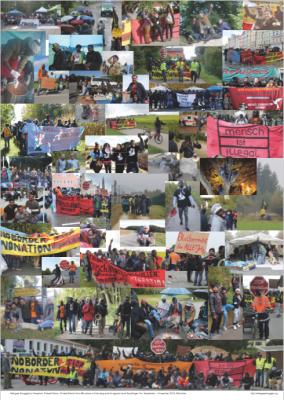 Refugee Protest March 2016 Munich to Nuremberg