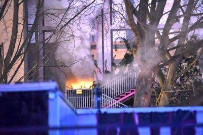 Brand in der Gerhart-Hauptmann-Schule in Ohlauerstr.