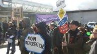 Schönefeld abschiebefrei Protest